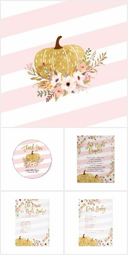 pink pumpkin baby shower and invitation collection oh baby
