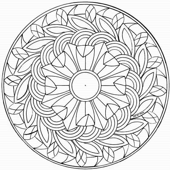 Mándalas para Colorear de Flores de Loto (13) | Ilustration ...