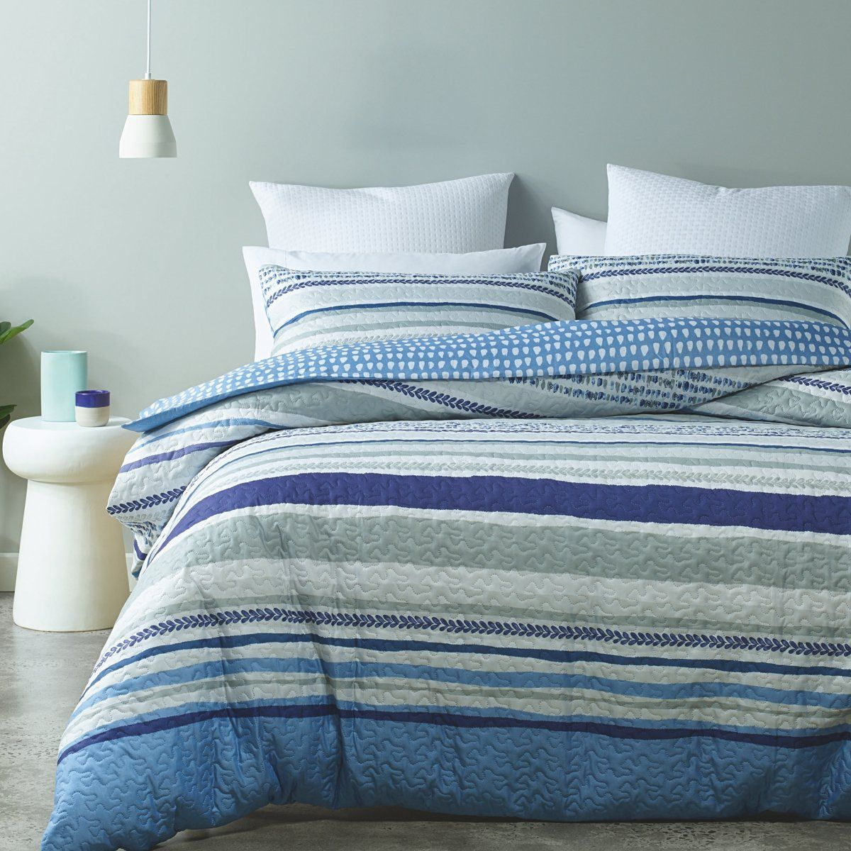 Make Your Bedroom Focal Point As Calming As Phase 2 Waterford Quilt Cover Set This Set Is Ideal As A Throw Over Or Cove Quilt Cover Sets Quilt Cover King Beds