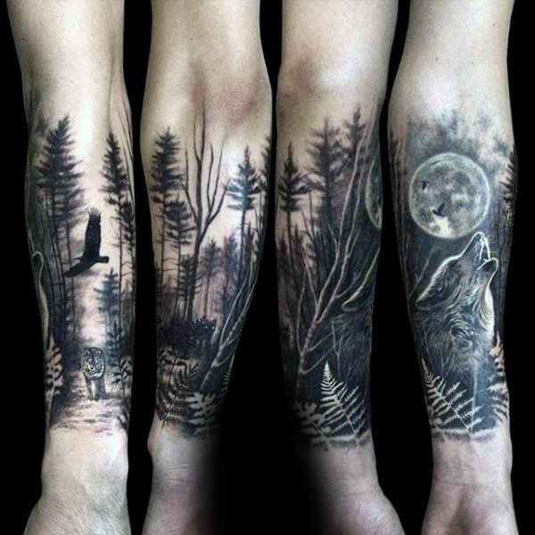 100 Forest Tattoo Designs For Men Masculine Tree Ink Ideas
