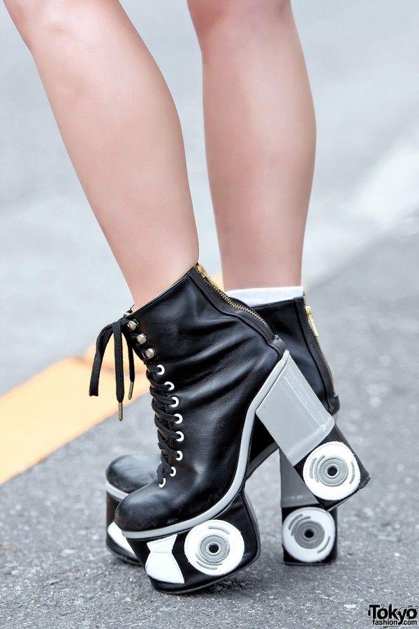 Roller Skate Platform Heels | Sneakers