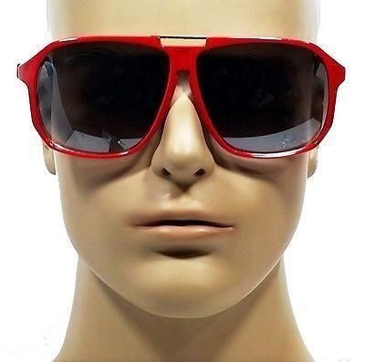 d6b8bdffa36 Celebrity Vintage Style Aviator Retro Red Oversized Sunglasses ...