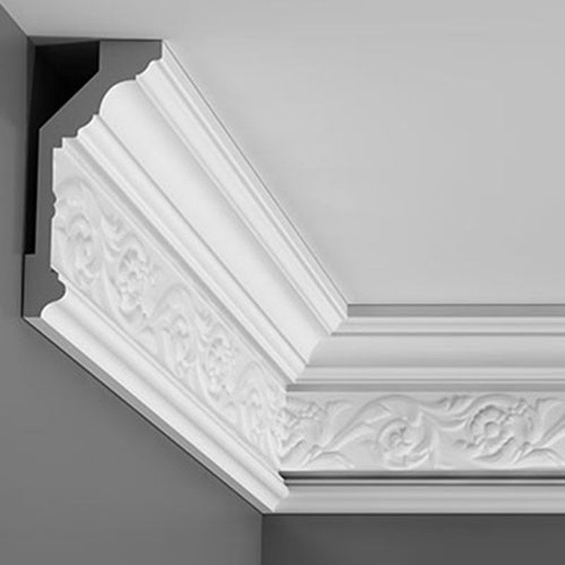 C303 Crown Molding Primed White Face 6 1 16 Length 78 3 4 Request Your Free C Orac Decor Kitchen Diy Makeover Ceiling Design