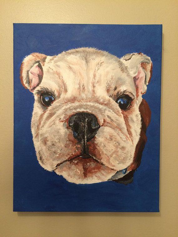 English Bull Dog Painting Custom Pet Painting By Lee Keller