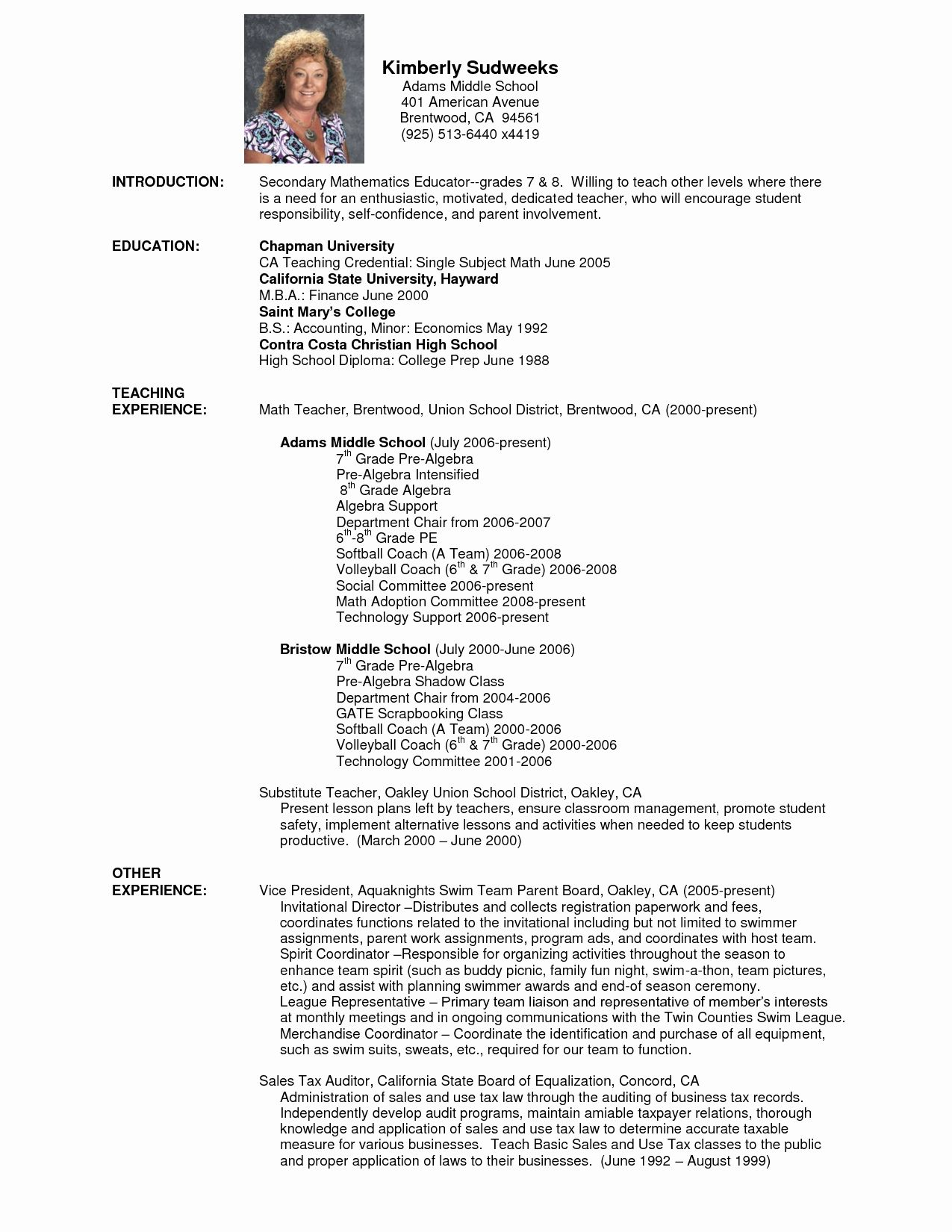 High School Math Teacher Resume Beautiful Do My Technology Dissertation Conclusion Lesson Middle Plan Tax Examples Example