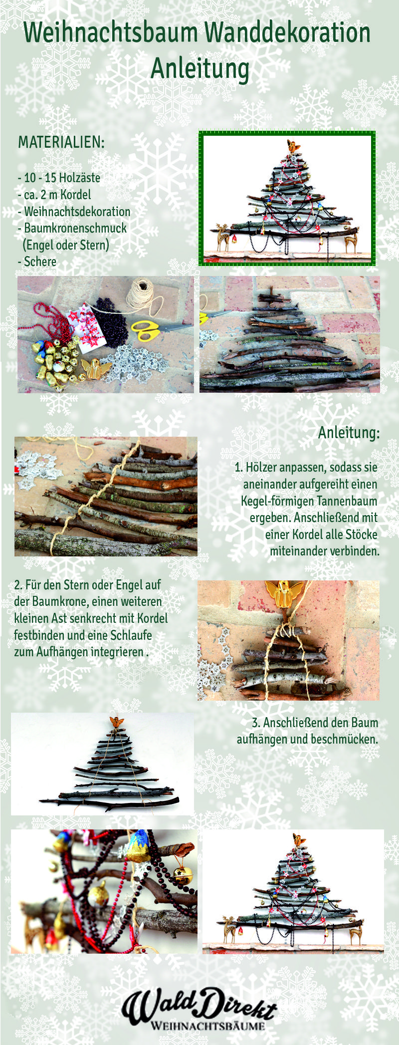 Anleitung Weihnachtsbaum Dekoration @walddirekt #walddirekt #weihnachtsbäume #weihnachtsdekoration #tannenbaum