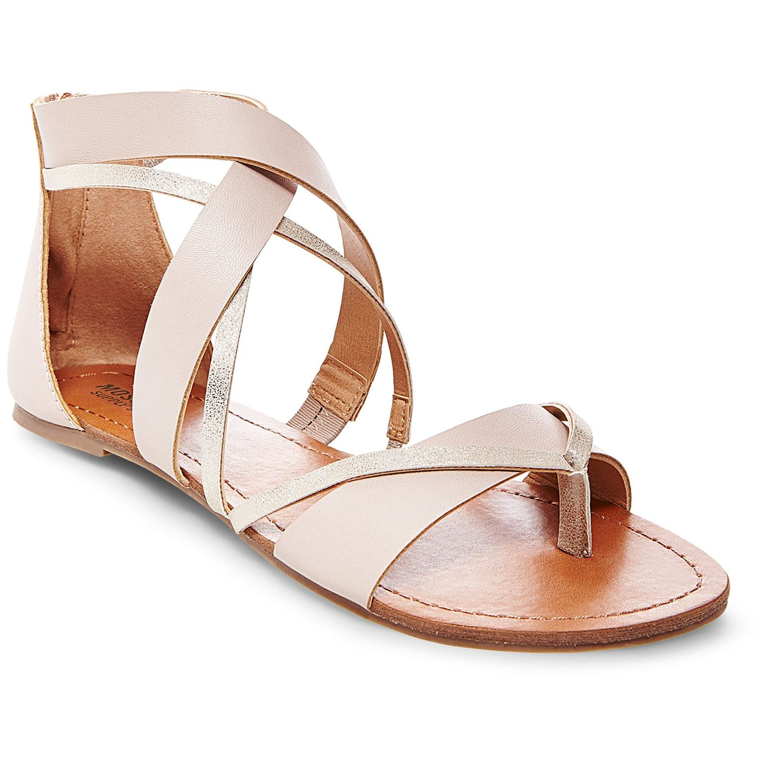 1f8c5e2bf4ad Flat no heel  br • Thong sandal with criss-cross detail br • Elastic ankle  insert   full-length back zipper br • Textured 100% rubber  outsole br  br Breezy ...