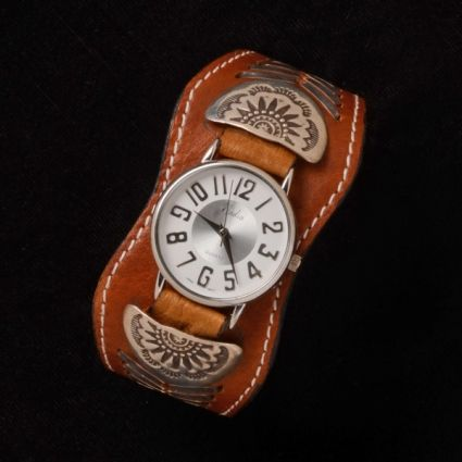 Tooled Leather Watch