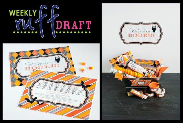 Ruff Draft – Free Classic Halloween BOO Sign
