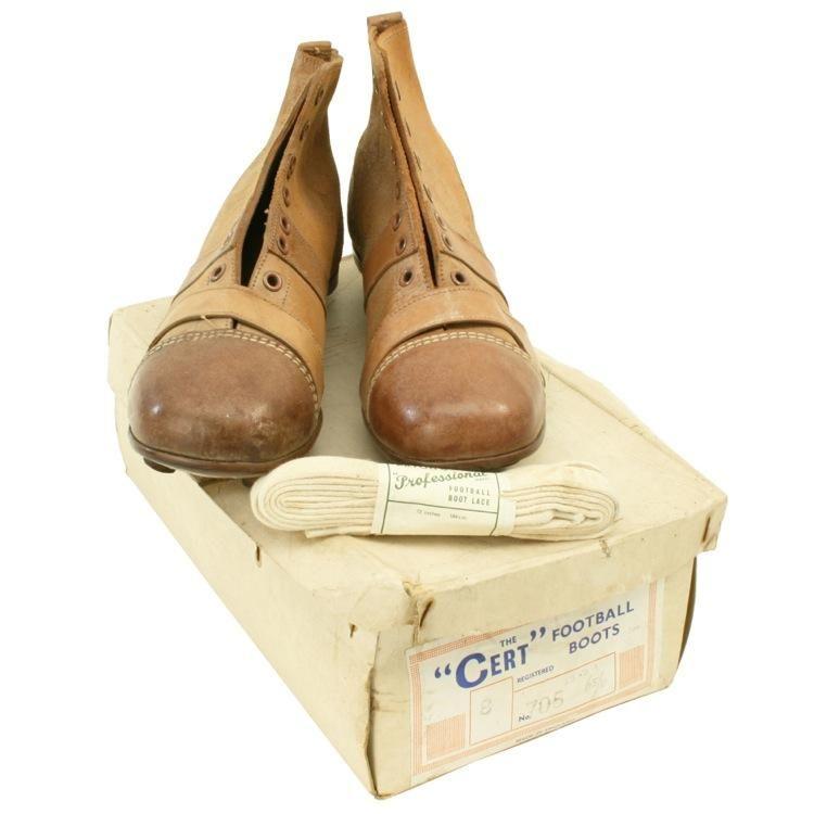 2b0866b0b Vintage Pair of 'Cert' Leather Football Boots. Circa 1950s $295 ...