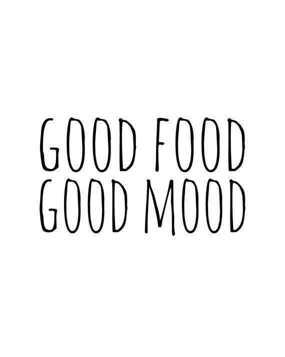 Good Food Good Mood, Food Print, Food Quote, Kitchen Print, Kitchen Wall Art, Home Decor, Printable Art, Kitchen Art Quote, Bakery Art, Art