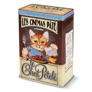 Boîte fer croquettes chat Chat potelé