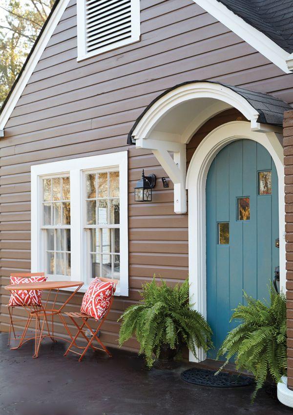 Inspiring Spaces Arched Front Door Front Door Awning Green Front Doors