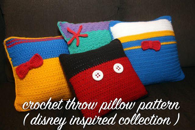 Disney Inspired Crochet Throw Pillow Patterns Disney Crochet Disney Crochet Patterns Crochet Pillow Patterns Free Crochet Pillow Pattern