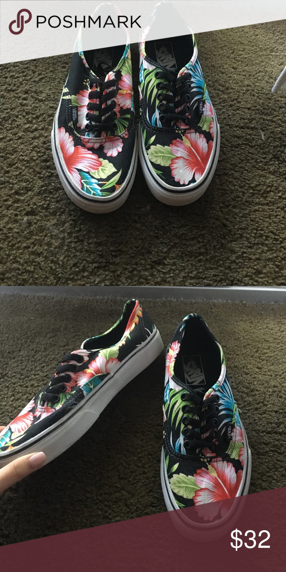 519c38a65a Size 8 Floral Vans Only worn one or twice! Vans Shoes Sneakers