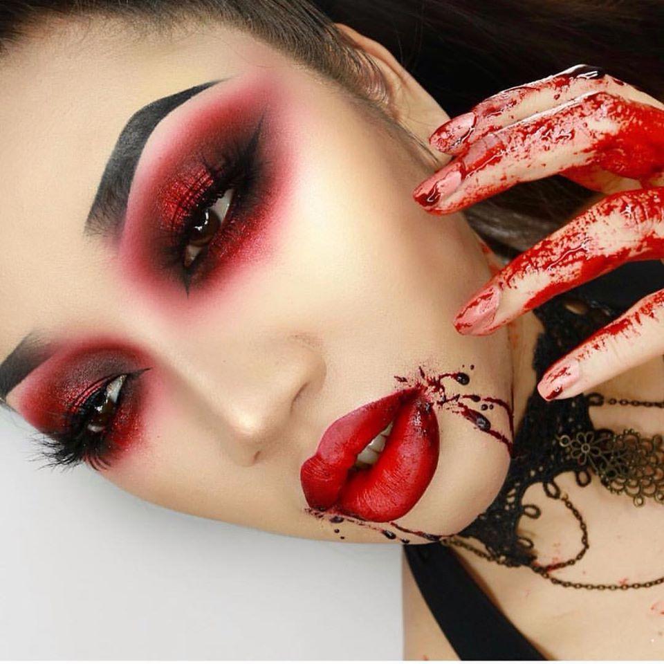 demon pulled up skin halloween makeup tutorial youtube - 960×960