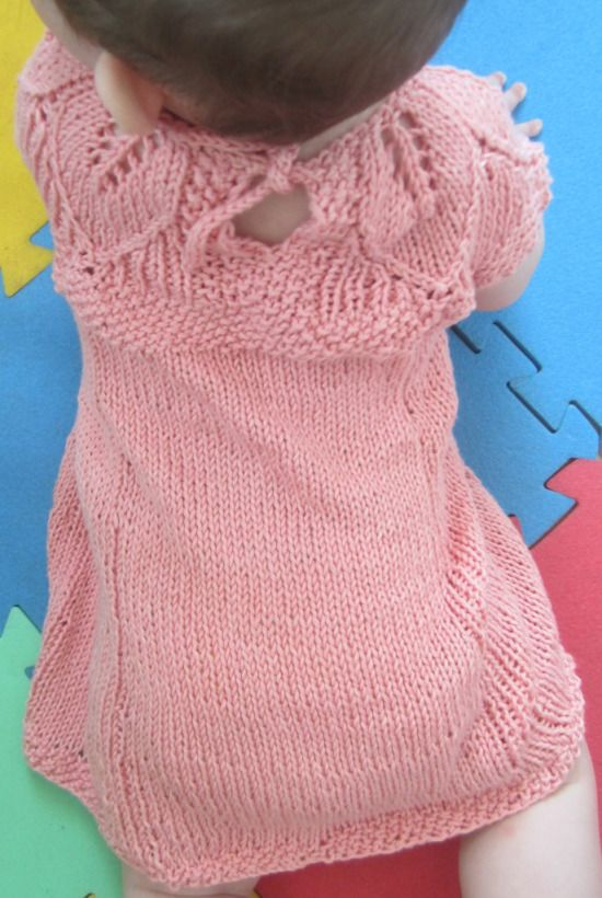 Free Knit Pattern Baby Dress Knitting Ideas For Zoe