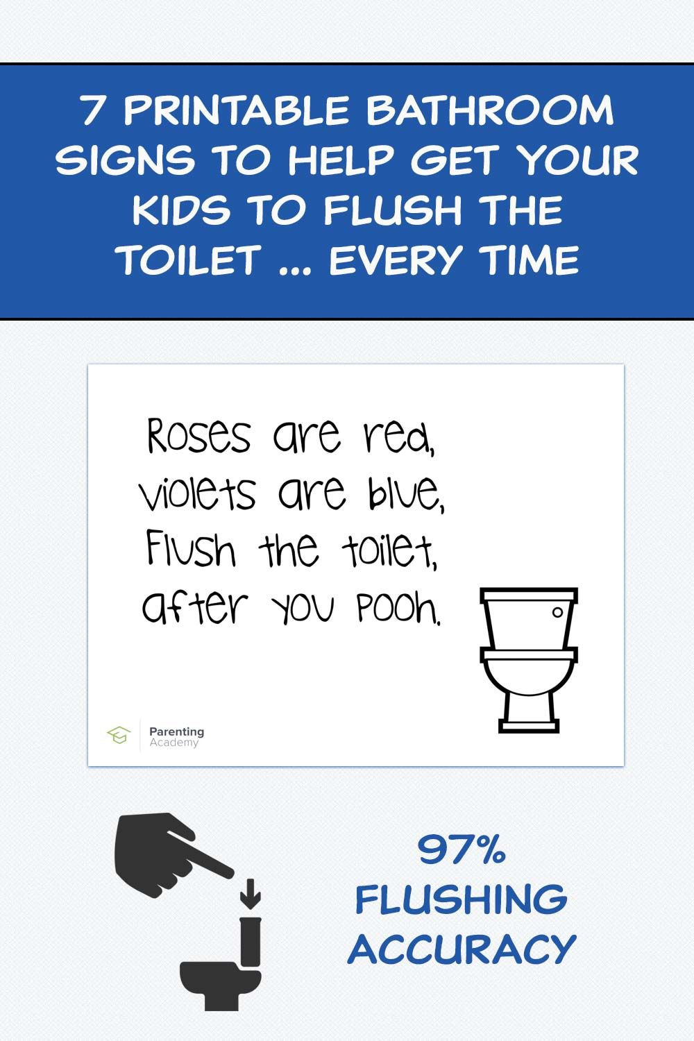 7 Printable Bathroom Signs To Help Get Your Kids To Flush The Toilet Every Time Kids Bathroom Sign Bathroom Signs Printable Bathroom Signs