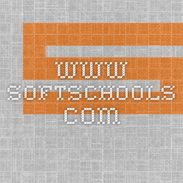 Softschools Worksheets Quizzes Games Prek 12 Grade Math