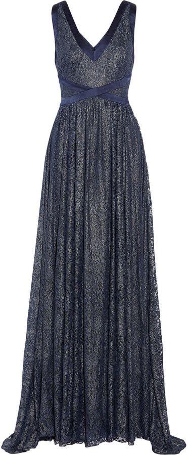 c1d3cda3e13 Badgley Mischka Metallic lace gown on shopstyle.com   pantsuits ...