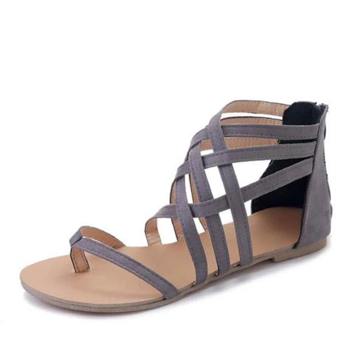 Coloryee Obuwie Plaskie Klapki Obcas Codzienne Zamek Blyskawiczny Kolor Rozowy Obuwie Colorye Ankle Strap Sandals Flat Black Sandals Heels Casual Shoes Women
