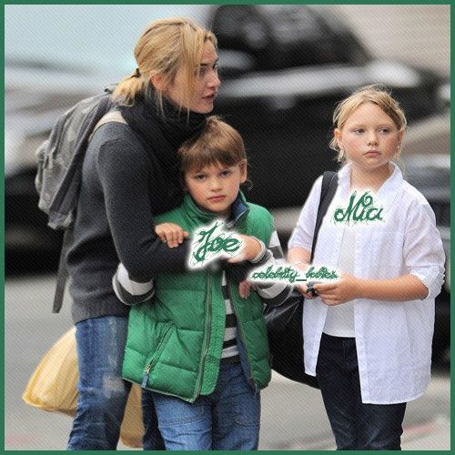 Kate Winslet With Kids Joe Mia Celebrity Kids Kate Winslet Celebrity Families
