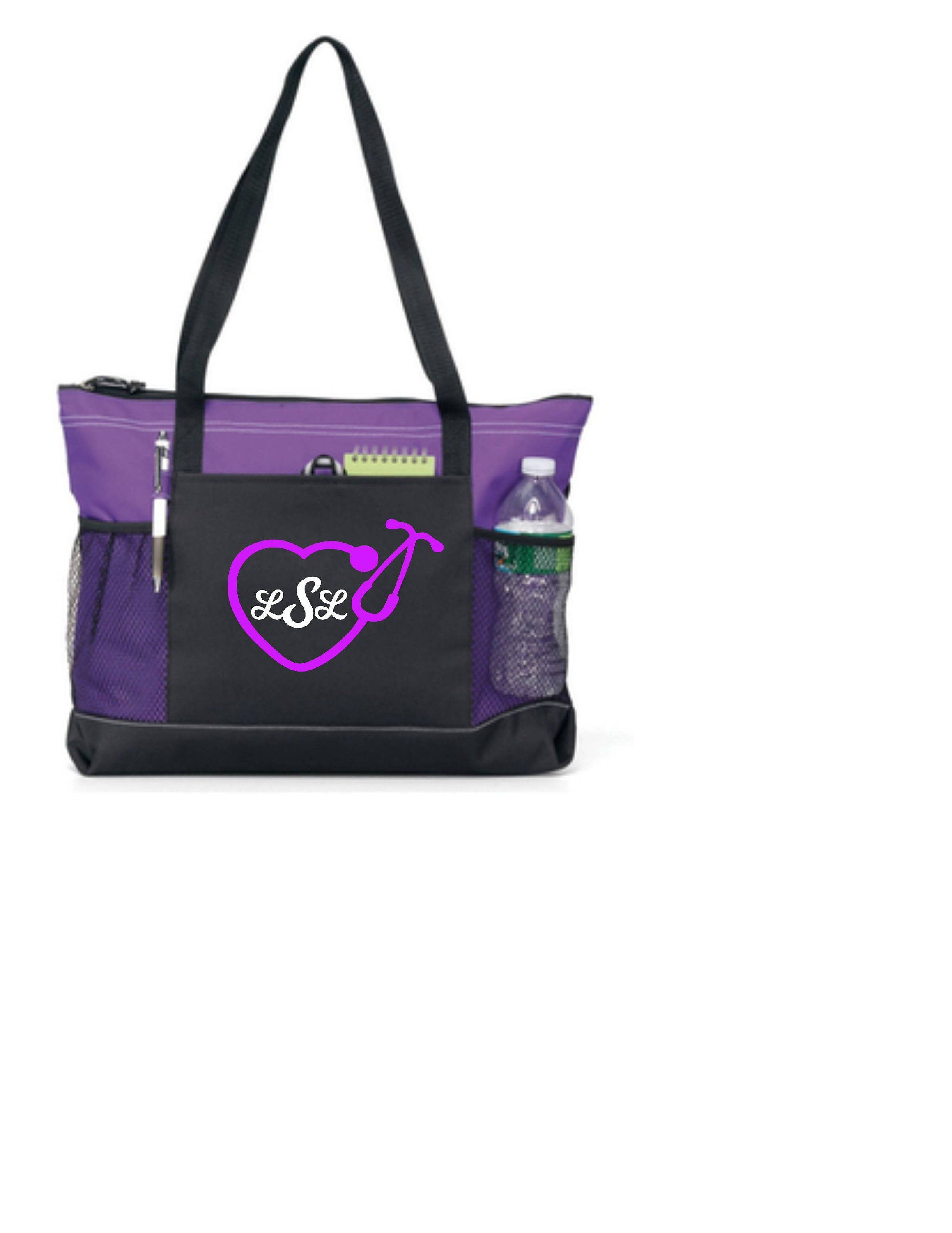 Nurse Bag Nursing Tote Personalized With Any Monogram Or