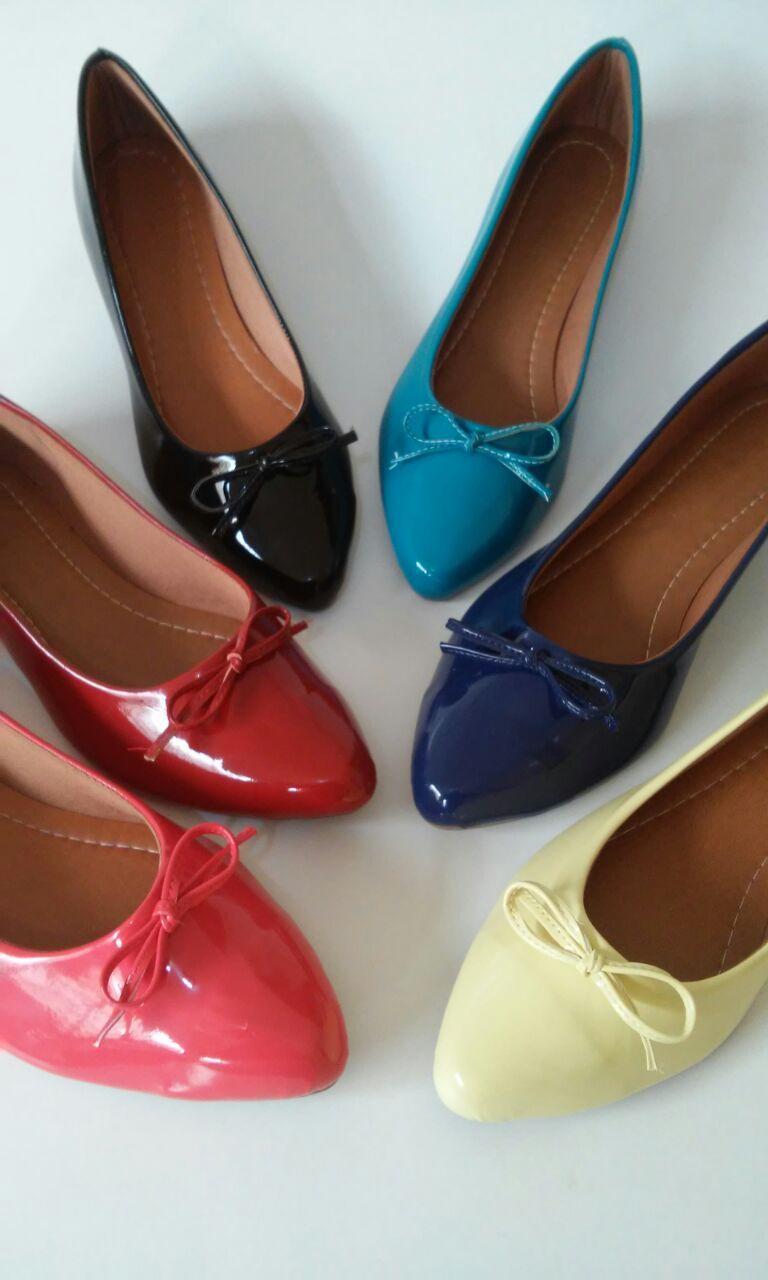 8effa6d32a sapatilha feminina bico fino em material verniz Fabrica De Sapatilhas