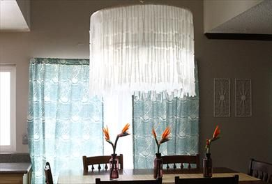Wax Paper Chandelier Use inexpensive wax paper to create a stunning faux capiz chandelier faux capiz chandelier audiocablefo