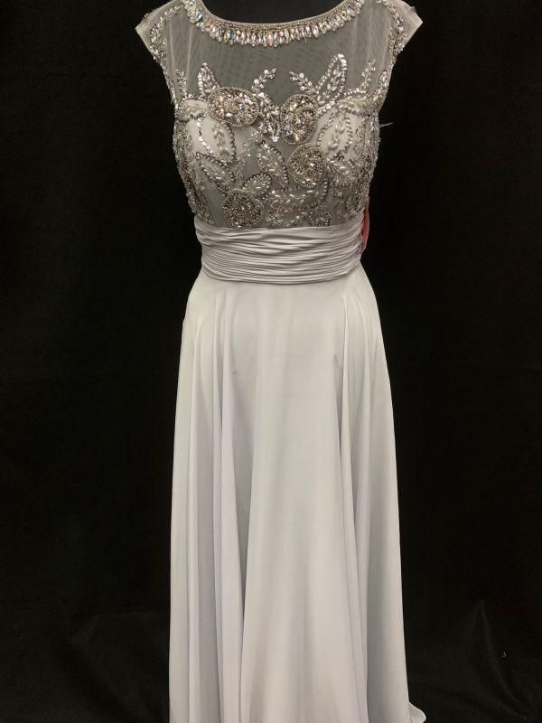 Night Scene Size M Et104 Silver Mother Of Bride Dress