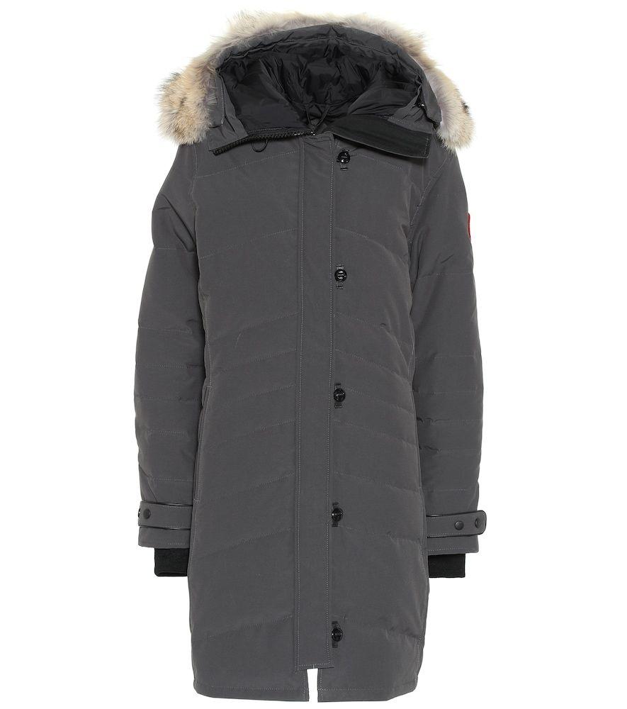 b30991de Lorette fur-trimmed parka in 2019 | Products | Suede coat, Silk coat ...