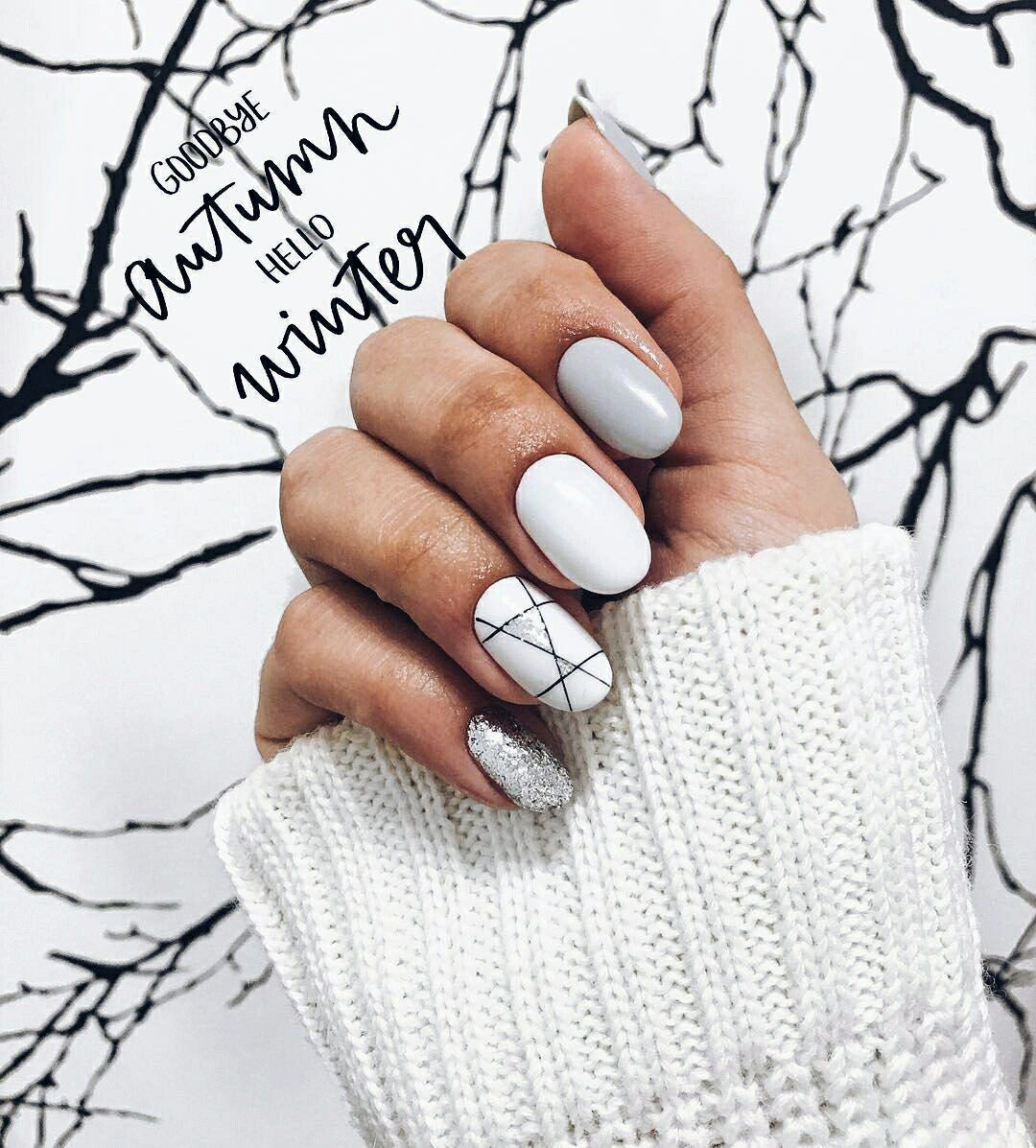 Pin By Vicky Lim On Kormok In 2020 Winter Nails Trendy Nails Nail Designs