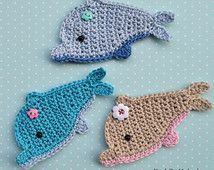 Delphin Applikationen Häkeln Diy Muster Crochet Patterns