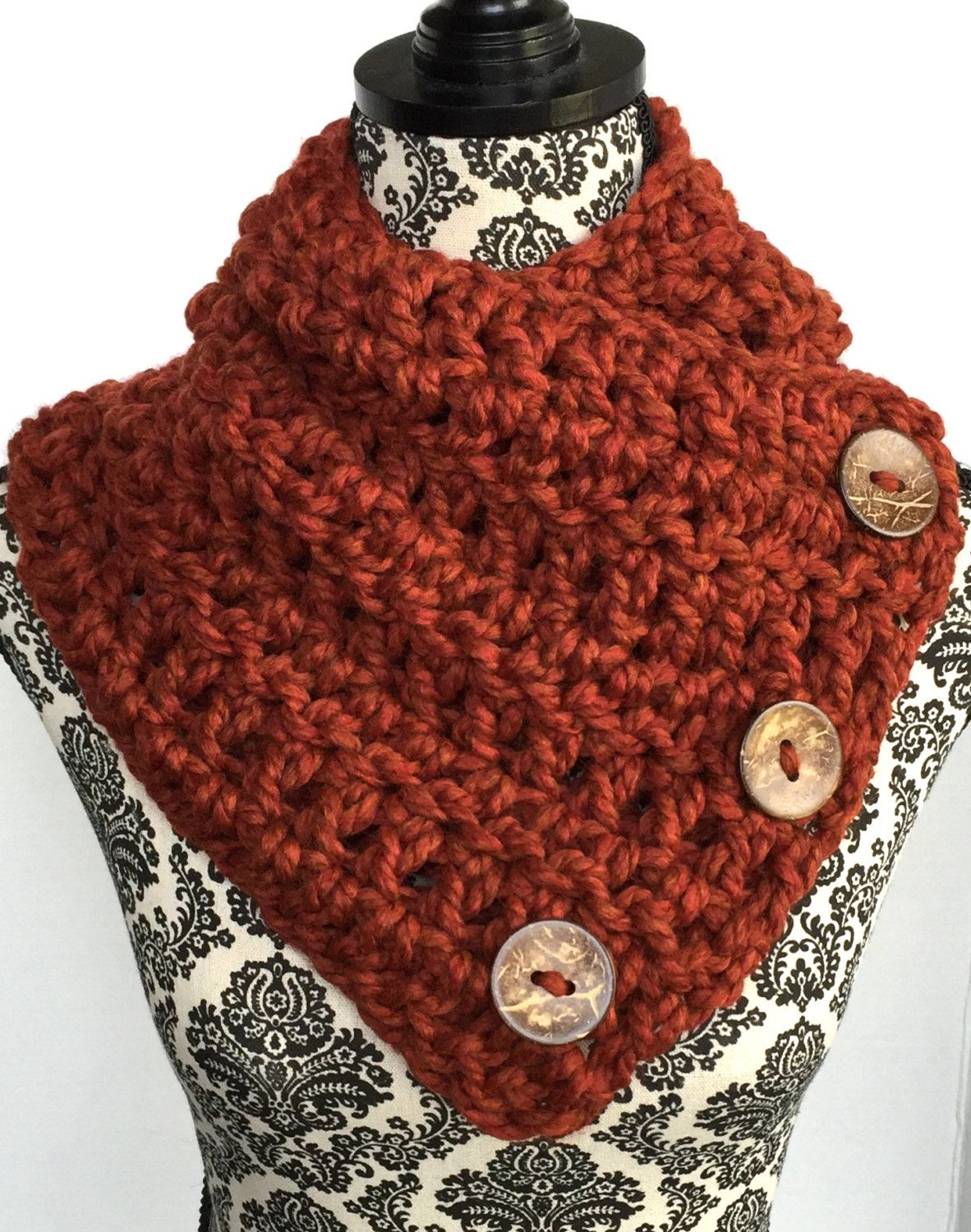 Boston Harbor Scarf in Rust - Shawls & Wraps - Shawls and Ponchos ...
