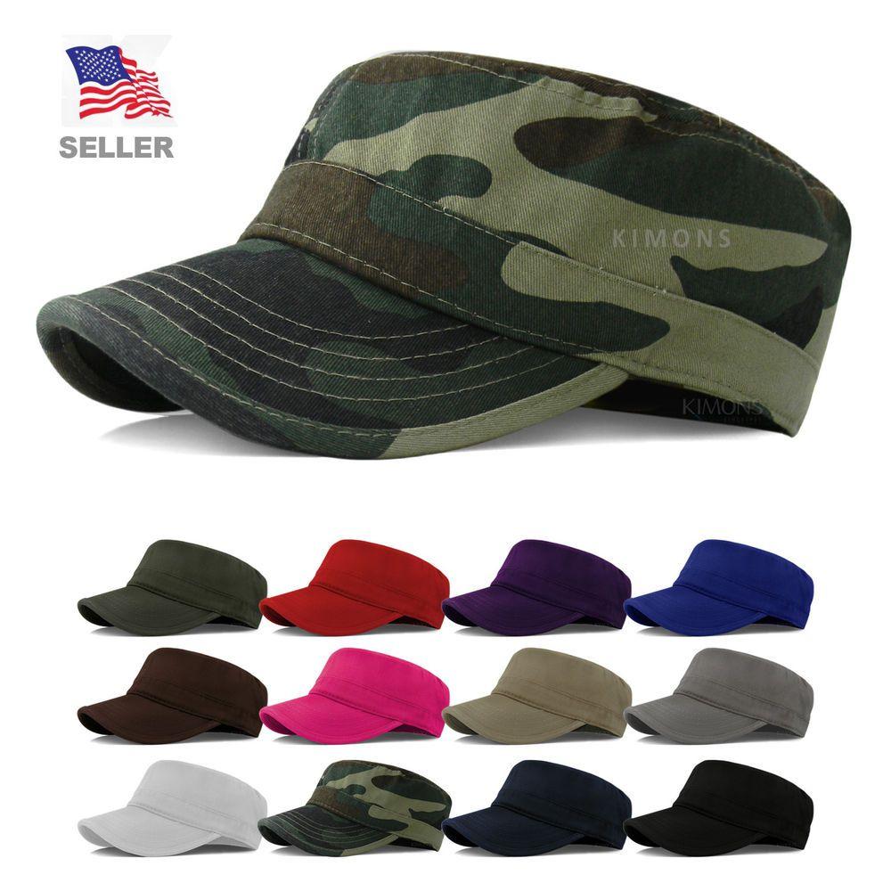 00d8598f94843 Army Cadet Military Patrol Castro Cap Hat Men Women Golf Driving Summer  Baseball  KimonsE  CadetMilitary