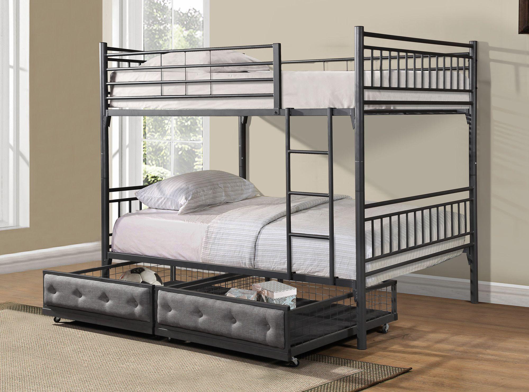 Lakeland mills twin over queen bunk bed amp reviews wayfair - Bunk Bed