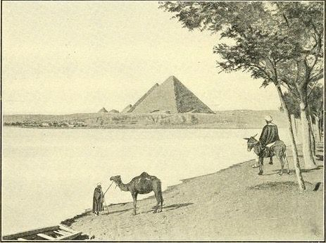 """""""The Nile at flood."""" Maury-Simonds physical geography. 1908."""