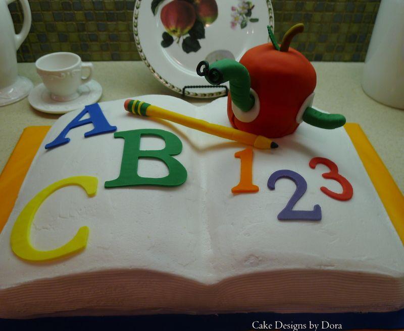 cake for Teacher  Cake Designs by Dora  Pinterest  Birthday cakes ...