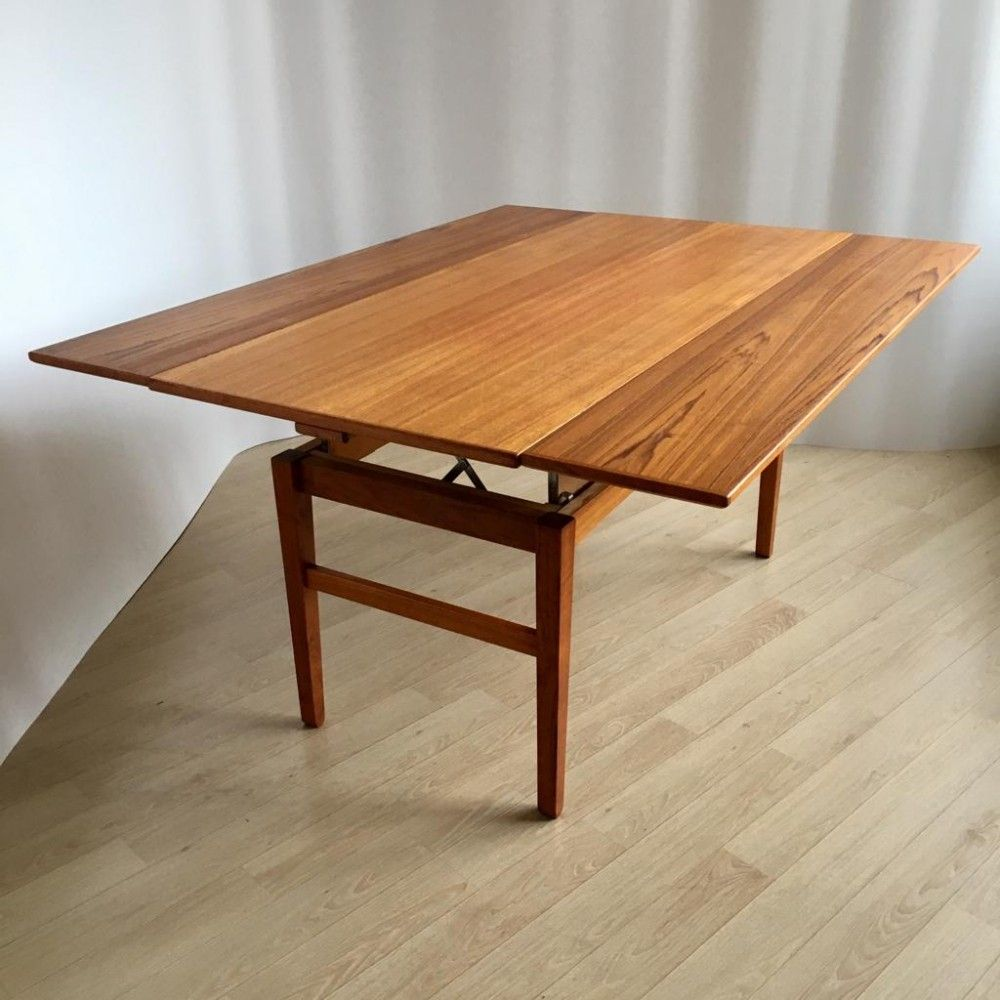 For Sale Mid Century Swedish Adjustable Teak Coffee Or Dining Table By Emmaboda 1957 Petite Salle A Manger Table Basse Teck Table Salle A Manger
