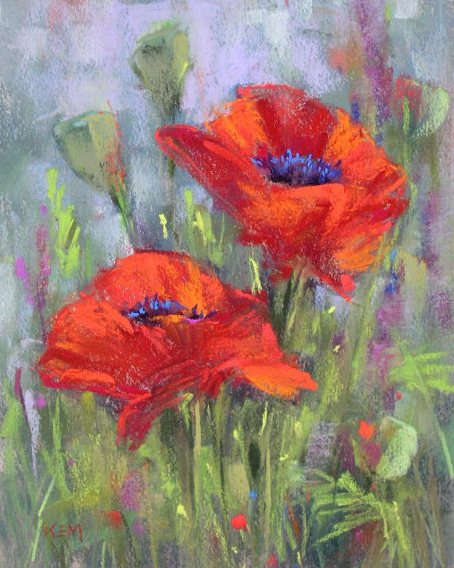Painting my world the magic of a dry underpainting for pastels painting my world the magic of a dry underpainting for pastels poppies paintingflower mightylinksfo Image collections