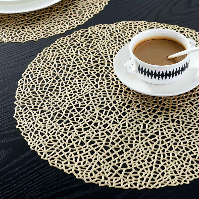 Gold Round Placemats Gold Coloured Vinyl Table Mats Manufacturer Sale Gold Placemats Colorful Table Placemats