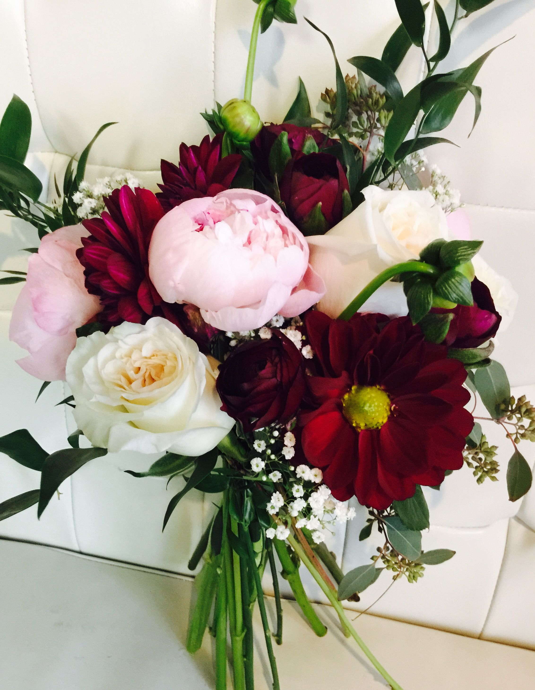 burgundy and blush pink wedding | Bridal bouquets | Pinterest ...