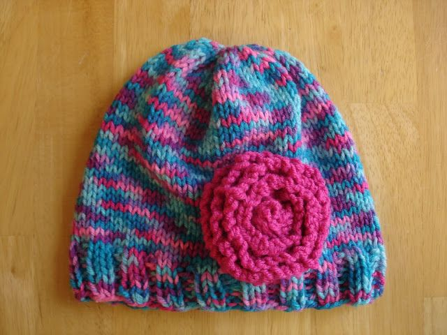 Fiber Flux...Adventures in Stitching: Free Knitting Pattern! Cotton Candy Hat