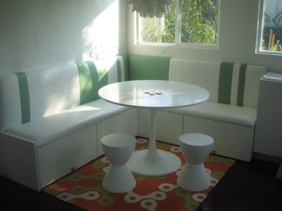 Make A Compact Banquette From Kitchen Cabinets Ikea Hackers