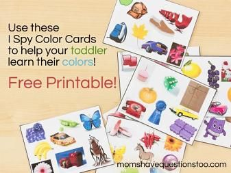 Color Games For Toddlers Part 2 I Spy Cards