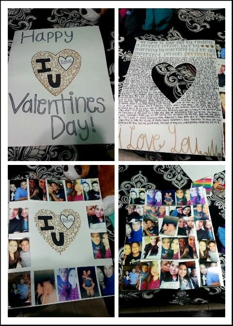 Diy Giant Valentines Day Card For Him Just Use 2 Poster Boards