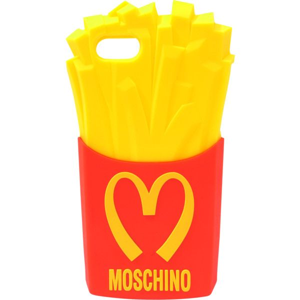 Moschino Moschino Fast Food Iphone 5 Case ($24) ❤ liked on Polyvore featuring accessories, tech accessories, phone cases, phone, cases, electronics, red and moschino