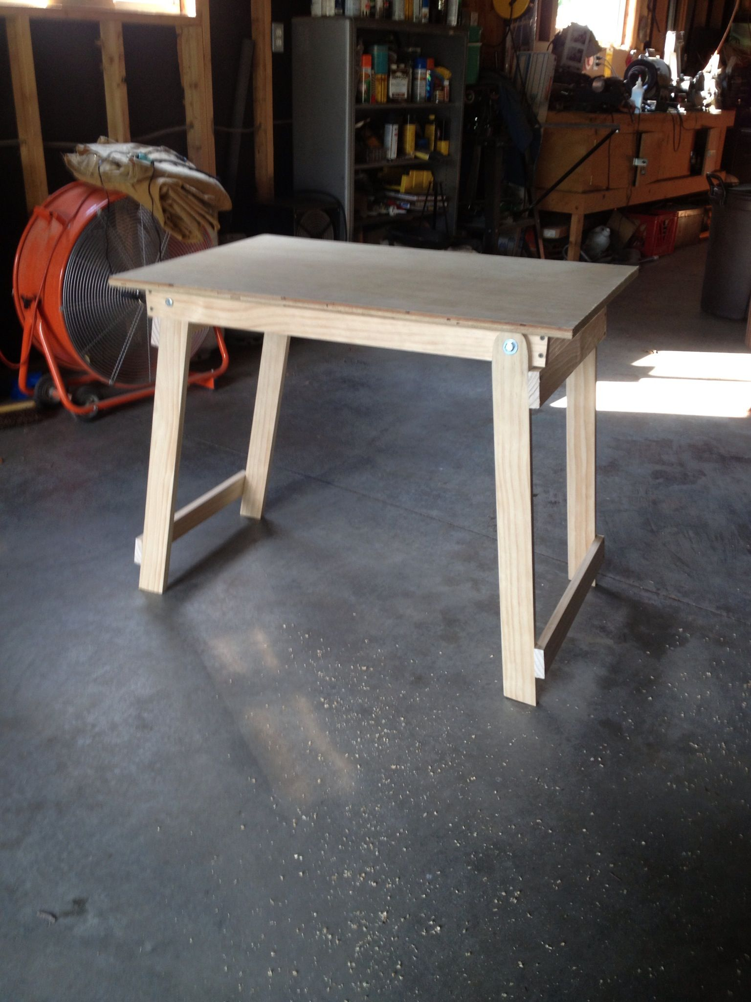 Folding Work Table Folding Workbench Work Table Plywood Table