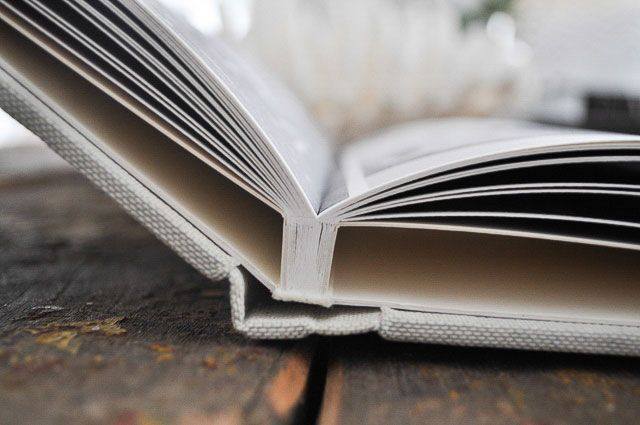 Wedding Album | Elegant linen Coffee Table Book with sleek pages in smooth or textured
