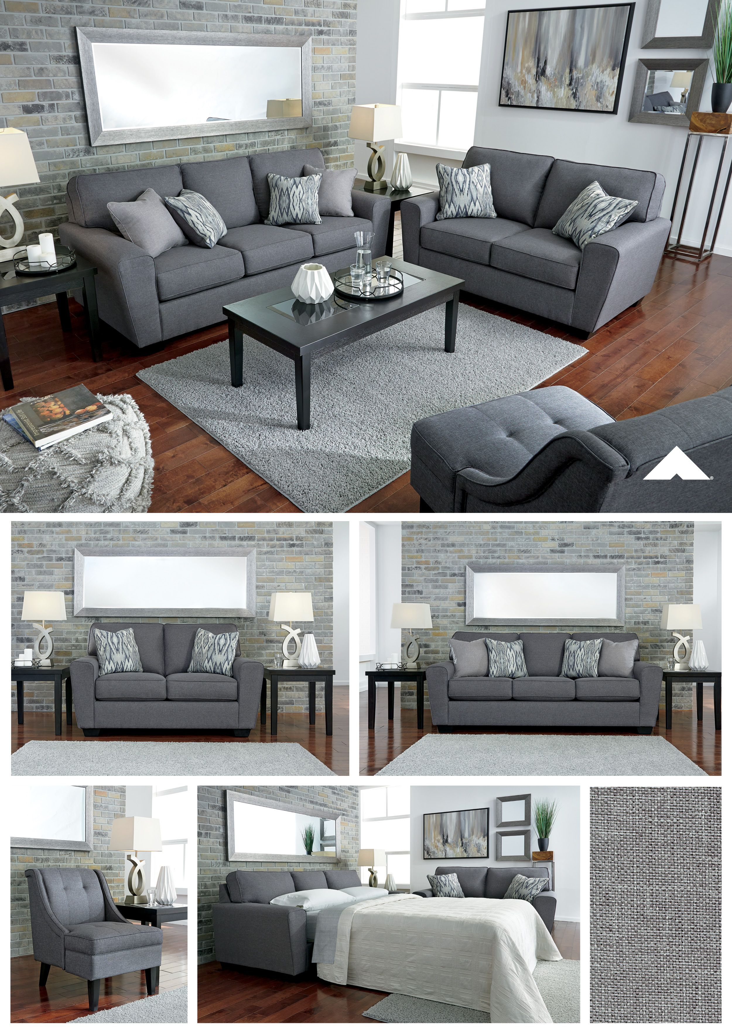 Best Calion Gunmetal Living Room Furniture By Ashley Furniture 640 x 480